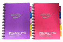 Supreme Classic A4 250pg 5 Subject Lecture Pad Pink Cover